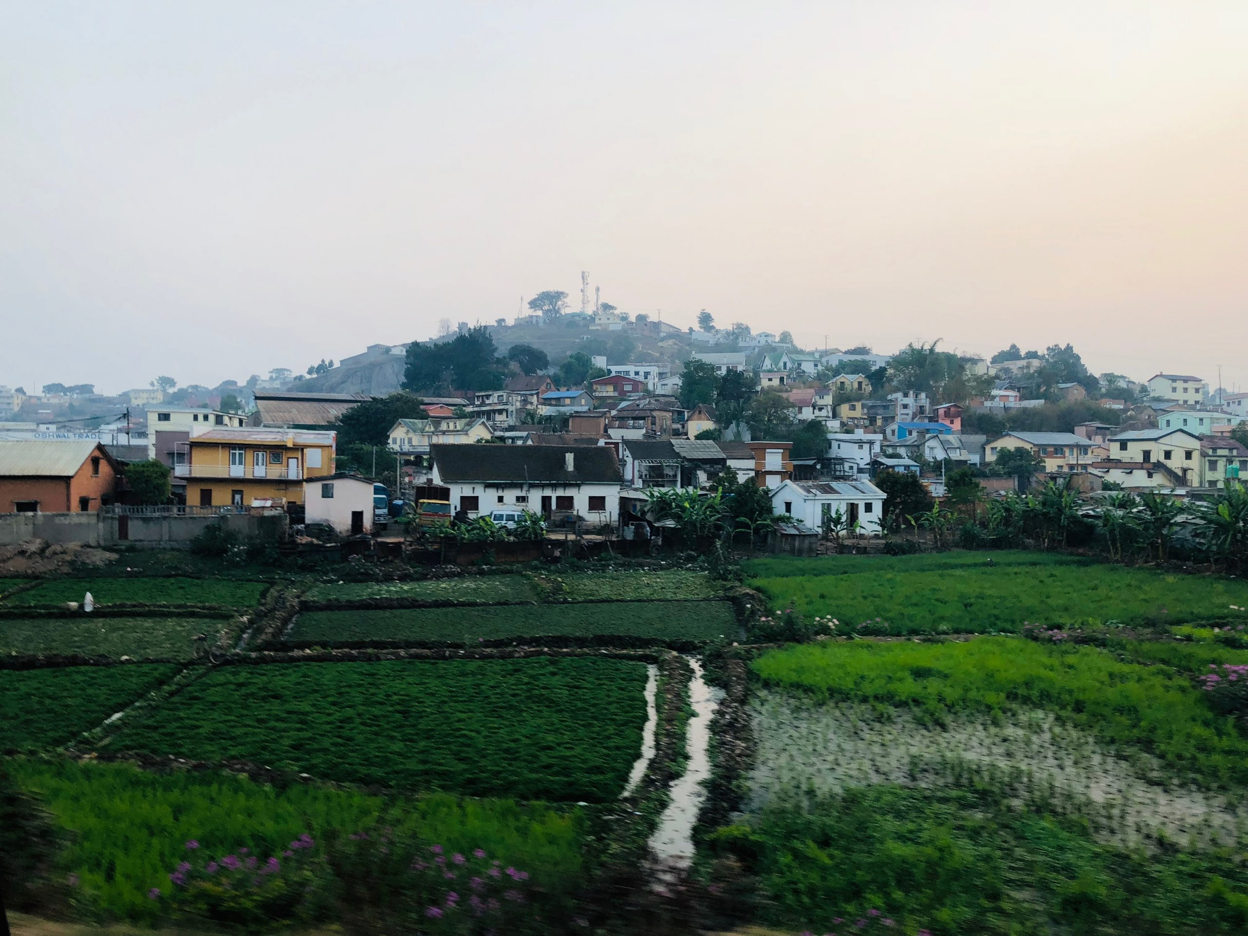 Village on a hill in antananarivo